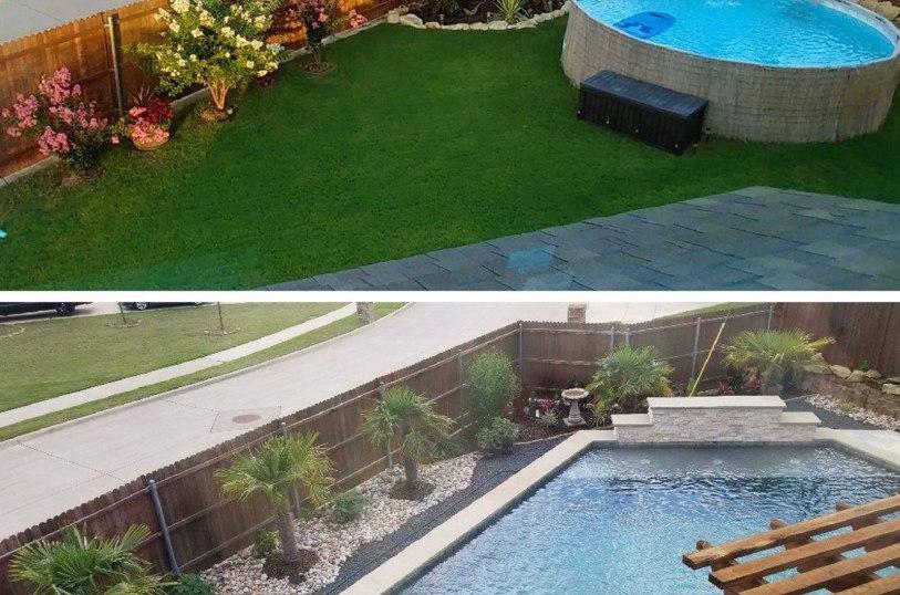 Inground swimming pools in Ovilla