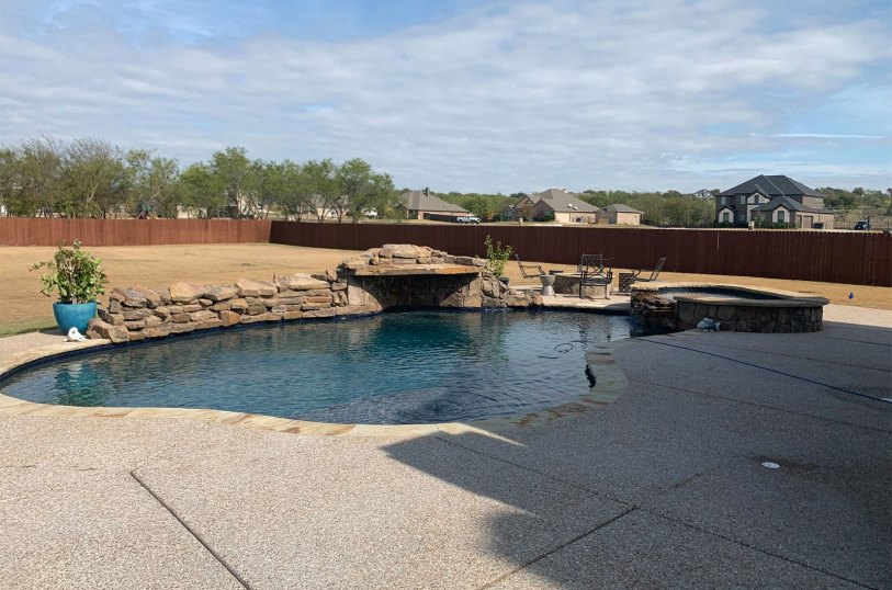 Waterfall Installation in Mansfield, TX