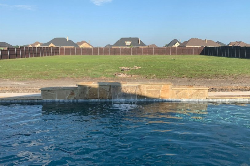 Pool with Waterfall Installation in Midlothian