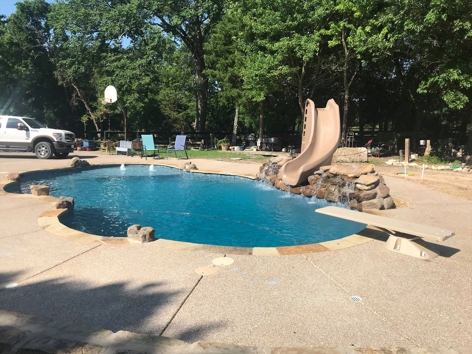 Custom inground swimming pools in Waxahachie, TX