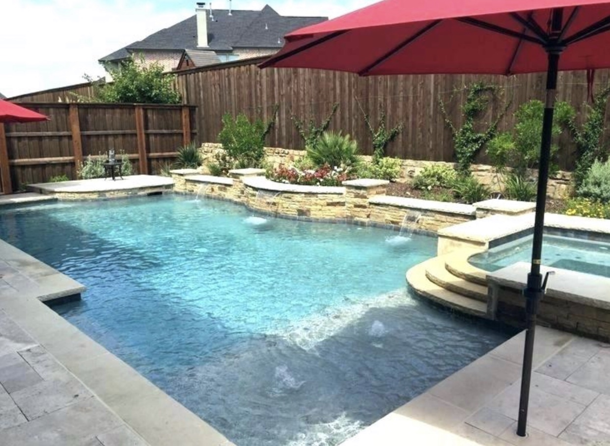 Inground Pool Remodel with Waterfall Installation in Ovilla, TX