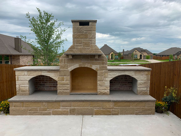 Outdoor Fireplace Installation in Glenn Heights, Mansfield, Midlothian, Ovilla, Red Oak, and Waxahachie, TX